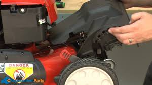 how to replace the front cover on a troy bilt tb280es lawn mower