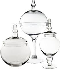 Candy Buffet Apothecary Jars by Candy Buffet Glass Apothecary Jars Set Of 3 Mitee