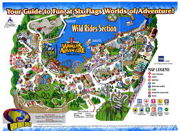 Six Flags America Map by Park Maps