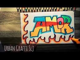 imagenes para dibujar letras graffitis como dibujar amor en letras graffitis facil youtube