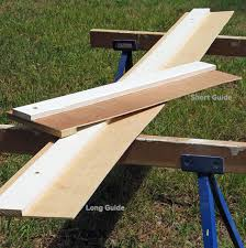 How To Make A Picnic Table Out Of 1 Sheet Of Plywood by How To Build A Simple Circular Saw Guide For Straighter Cuts