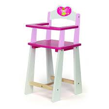 chaise haute poup e chaise haute pour poupée fée à partir de 3 ans sebio