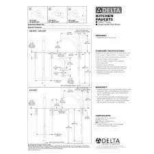 delta faucet 440 we dst collins polished chrome one handle with