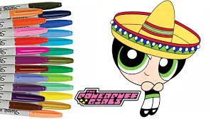powerpuff girls coloring book page cinco de mayo ppg buttercup