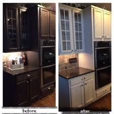 Paint Kitchen Cabinets Before After Amy Howard At Home Before U0026 After Kitchen Cabinets Luxe Grey One