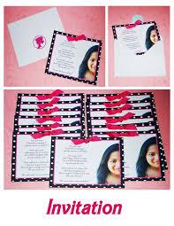 Barbie Birthday Invitation Cards Creative Ms Red Stephanie U0027s Barbie Birthday Bash 7th Birthday