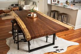 Living Edge Dining Table Dining Tables Live Edge Table Metal Base Live Edge Furniture For