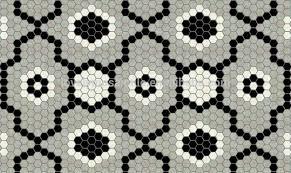 ceramic hexagon pattern black white grey floor tiles design buy