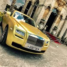 gold phantom car gold rolls royce wedding car hire u2013 golden fleet the uk u0027s only