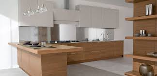 Kitchen With Stainless Steel Backsplash Kitchen Cabinet Modern Two Toned Kitchen Wall Cabinet With