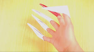 Origami Paper Claws - make origami paper claws origami paper origami and programs