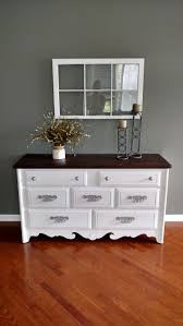 Does Goodwill Take Furniture by Goodwill Dresser Painted In Linen White Chalk Paint And Dark Stain