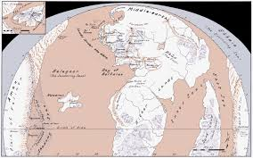 Accurate Map Of The World Lord Of The Rings Most Accurate Map Of Arda Before Beleriand Was
