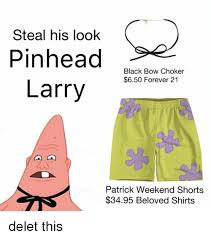 Pinhead Larry Meme - steal his look pinhead black bow choker 650 forever 21 larry