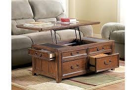 lift top trunk coffee table the woodboro lift top coffee table from ashley furniture homestore