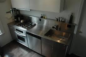 SpecialtyStainlesscom Custom Stainless Steel Countertop Waterfall - Compact kitchen sinks stainless steel