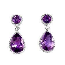 amethyst earrings amethyst earrings pastal names