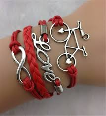 black leather love bracelet images Vintage love bicycle lucky 8 infinity bracelet multiple jpg