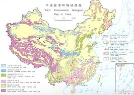 Harbin China Map by Karst Environmental Geological Map Of China Full Size