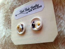 food earrings stud earrings food earrings fried egg and bacon