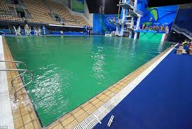 bizarre scenes at synchronised diving final as the pool turns