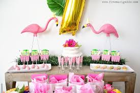 pink flamingo birthday party five marigolds