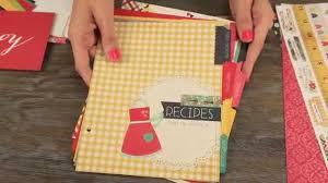 Scrapbook Binder Simple Stories Snap Homespun Recipe Binder Class Kit Youtube