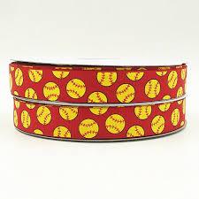 softball ribbon wm ribbon 7 8inch 22mm 160328002 softball on 250 print