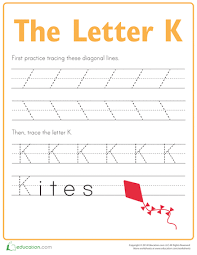 free worksheets trace letter k free math worksheets for