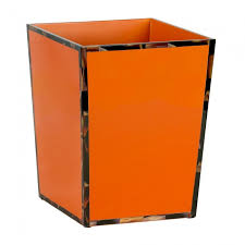 orange waste basket tortoise rim
