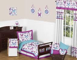 Purple Toddler Bedding Set Garden Toddler Bedding 5pc Set By Sweet Jojo Designs Only