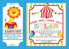 circus party invitations marialonghi com
