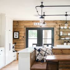 stained shiplap accent wall home inspiration pinterest