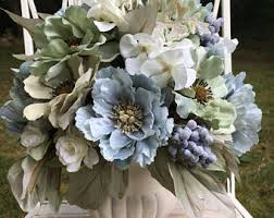 Shabby Chic Flower Arrangement by Shabby Chic Urn Etsy