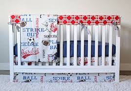 Baby Boy Blue Crib Bedding by Sports Crib Bedding Soccer Football Baseball Bedding Set