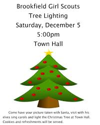 brookfield scouts to light christmas tree newstimes