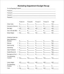 department budget templates 9 free word pdf documents download