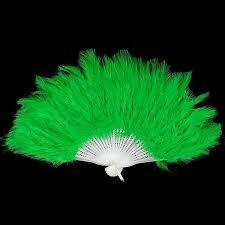 feather fan stunning green feather fan