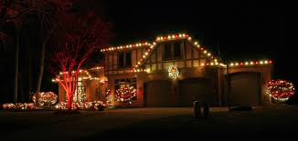 Red And White Christmas Lights by Blue And White Holiday Lighting Display Swimming Pool Services