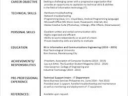 resume format for technical support engineer sample resume formats resume example sample resume formats