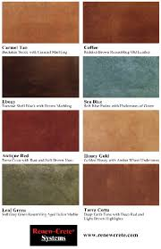 Stain Color Chart Concrete Coating Color Chart Color Charts And Brochures