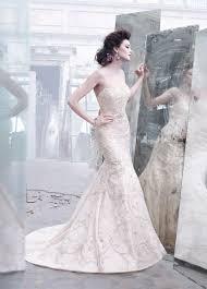 pink embroidered wedding dress lazaro lz3262 size 6 wedding dress oncewed com