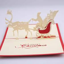 wholesale 3d handmade greeting cards deer car