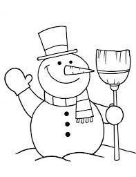 the stylish snowman coloring pages free intended to really