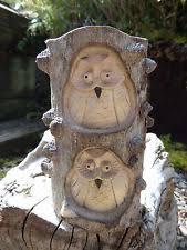 wooden owl garden statues lawn ornaments ebay