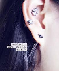 cartilage earrings men stainless steel tribal ear spike men earrings hiunni