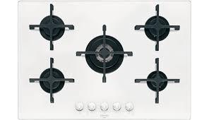 piano cottura vetro bianco electrolux piano cottura 5 fuochi incasso a gas 75 cm cristallo