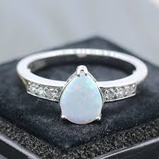 white fire rings images Gzjy wonderful ring teardrop white fire opal gold color ring for jpg