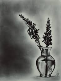 pencil drawing of flower vase pencil drawing realistic flowers