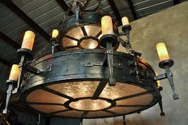 Forged Chandeliers Forged Chandelier Rustic Family Room New Orleans By